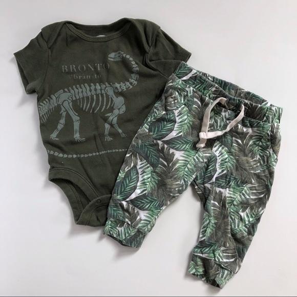 bc0b1194c Old Navy Matching Sets | Dinosaur Onesie Tropical Jogger Set | Poshmark